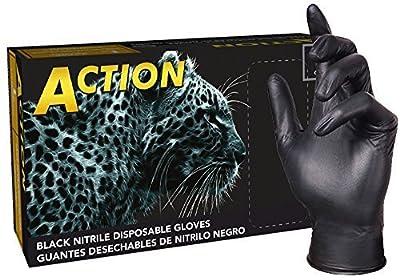 Shamrock 8000 Series Black Powder Free Nitrile Rubber Disposable Gloves