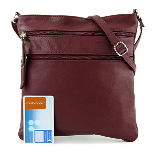 Red Cuir Petit Nappa Modamoda Bordeaux orange T57 Couleur Italien En De Sac qPO6wCZ