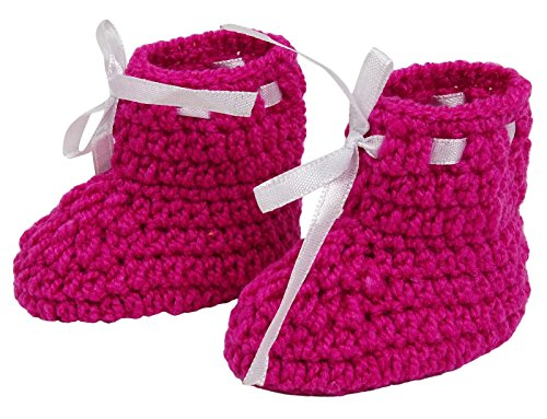 Love Crochet Art Calcetines Pink Handmade Baby Booties Calcetines Recién nacidos Prewalker Rosado
