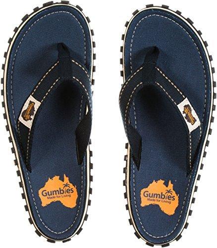 Gumbies - Chanclas de goma para hombre, color azul, talla 44