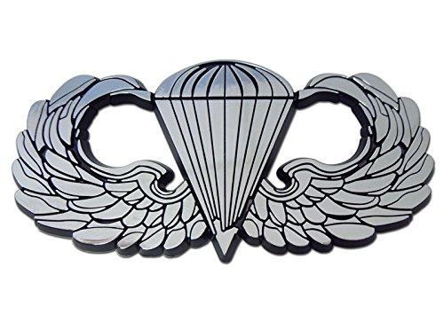 Airborne Sticker (Army Airborne Paratrooper Wings Premium Chrome Car Truck Motorcycle Emblem)