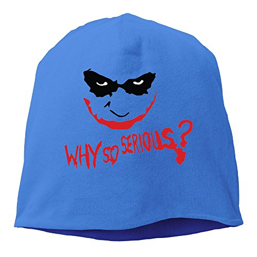YUVIA Why So Joker Men's&Women's Patch Beanie RowingRoyalBlue Caps Hats For Autumn And Winter (Costume Stores Cleveland)