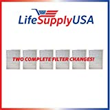 6 Filters - 2 Complete Sets - Air Purifier Set of Filters to fit ALL Blueair 500 and 600 Series ; By Vacuum Savings