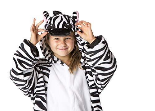 Ultra Soft Unisex, Boys, Girls Pajamas Kigurumi Costume for Kids (Small, (Zebra Costume Child)