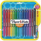 Inkjoy Gel Retractable Pen, 0.7mm, Assorted Ink, 14/pack