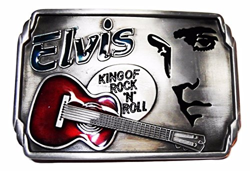 Elvis Presley The King of Rock & Roll Metal/Enamel Belt Buckle ()