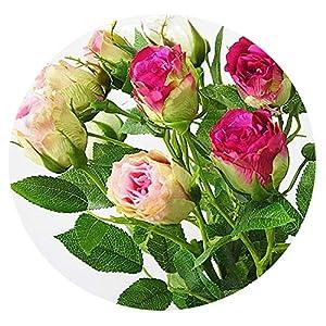 Zalin Artificial Rose Fake Flowers Silk Flores artificiales for Autumn Wedding Decoration 62