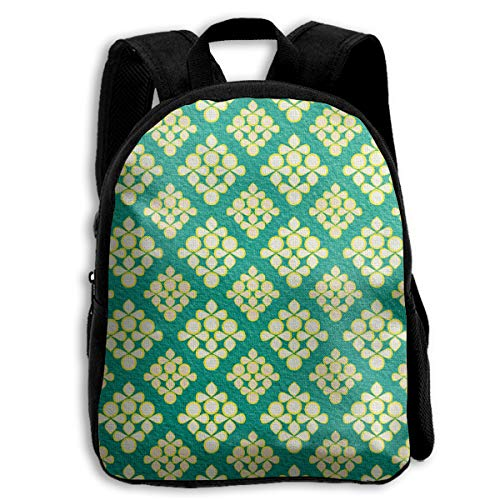AACC-Bag Children's Bags Vintage Paper Kraft Pattern Boys and Girls Backpack¡¢600D Plain Oxford Coth ()