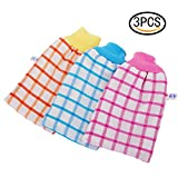 Best GENERIC Exfoliating Gloves - Coobbar 3pcs Exfoliating Gloves Thick Double-Sided Bath Towel Review