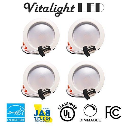 4 INCH 9W LED Downlight - DIMMABLE (2700K/3000K/4000K/5000K) All Sizes (4 Pack, 4000K(Cool White))