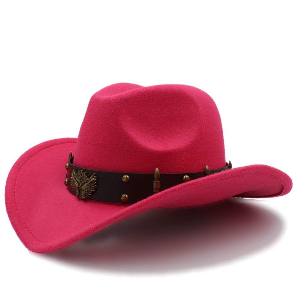 Achun Mütze Damen Herren Unisex Vintage Wollfilz Cowboy Wide Brim Bowler Hüte Türkis Braid Band