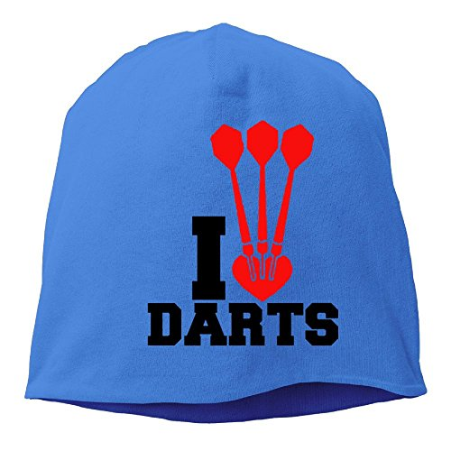 Oklahoma State Dartboard (WKPJJDBD0 Men & Women Cap I HEART DARTS - Throwing Sport Dartboard Warm Sports Style Warm Knit Beanie Skull Cap Cuff Beanie Hat Winter Hat RoyalBlue)
