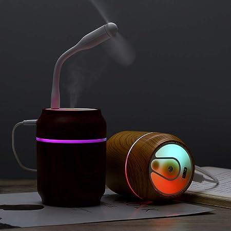 RISTHY Mini Difusor de Aceites Esenciales LED+ Ventilador ...