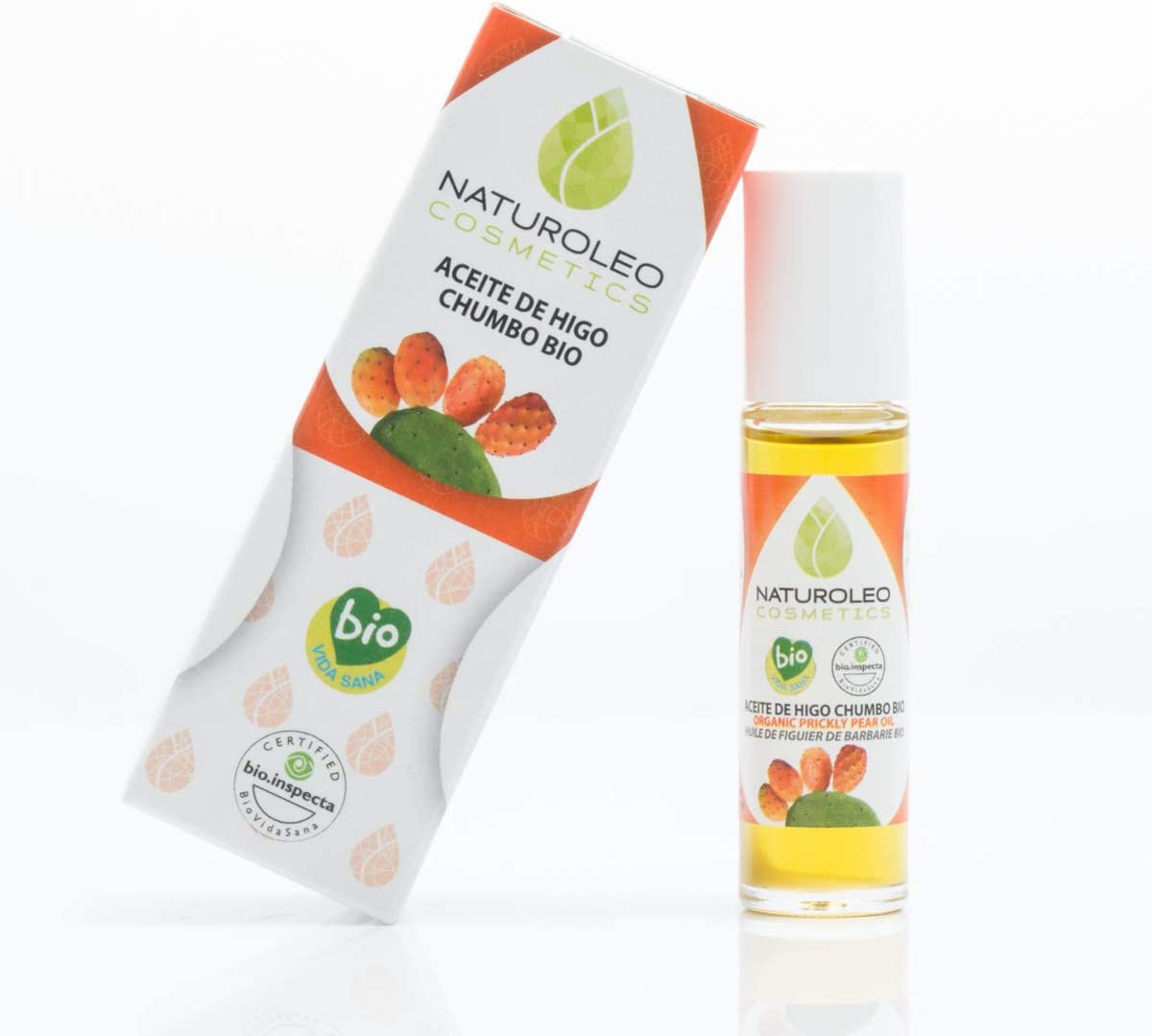 Naturoleo Cosmetics - Aceite Higo Chumbo BIO - 100% Puro y Natural Ecológico Certificado - 10 ml.