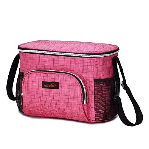 3en 1con aislamiento momia pañal bolsa bebé para cambio de pañales bolsa organizador para carrito de bebé para cochecito de bebé negro negro rosa (b)