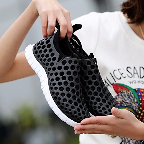 Buco scarpa Uomini Il nuovo Spiaggia scarpa Uomini Tempo libero sandali estate sandali Uomini scarpa Superficie della maglia scarpa Uomini ,nero,US=10,UK=9.5,EU=44,CN=46