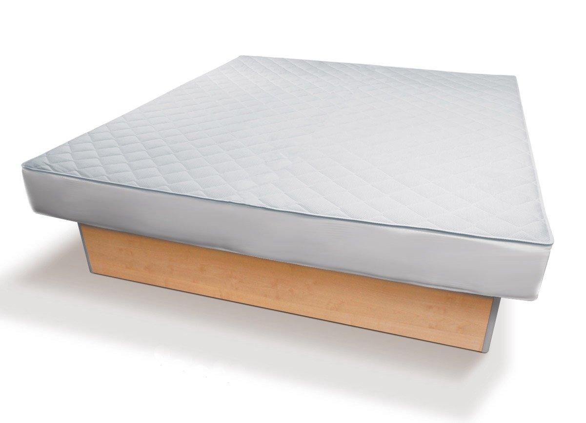 Universal Bezug mit Reißverschluss passend für jedes Wasserbett Boxspring-Bett & Matratzen   Matratzenschoner mit Spannumrandung & Reißverschluss   Höhe bis 30cm   Microfaser   Matratzen-Schon-Auflage 180 x 210 cm