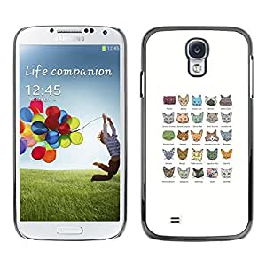Be Good Phone Accessory // Dura Cáscara cubierta Protectora Caso Carcasa Funda de Protección para Samsung Galaxy S4 I9500 // Cat Breeds Turkish Angora Egyptian Mau