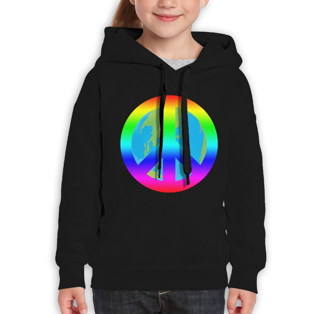 Love The Earth Love Peace Girls Boys Teens Cotton Long Sleeve Cute Sweatshirt Hoodie Unisex