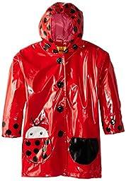 Kidorable Little Girls\' Ladybug Raincoat, Red, 4T
