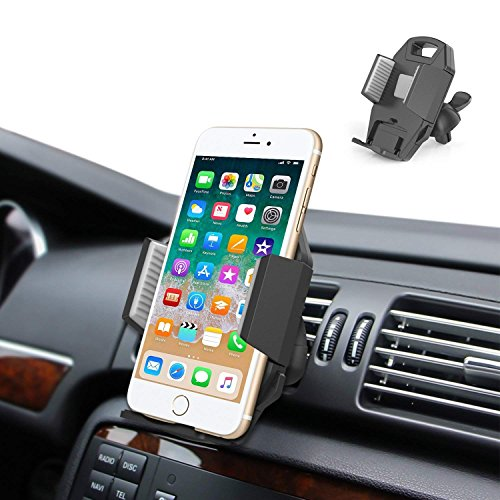 Car Cell Phone Holder Mount - ilikable Upgrade Air Vent Car Mount Holder Cradle with Quick Release and 360°Rotation Compatible Samsung Galaxy Smartphone GPS Etc.