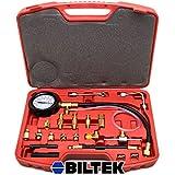 Biltek 0-140 PSI Fuel Injection Pump Injector Tester Test Pressure Gauge Gasoline Cars