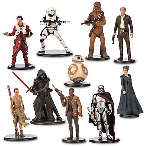 (disney store star wars the force awakens deluxe figure play set new with box)