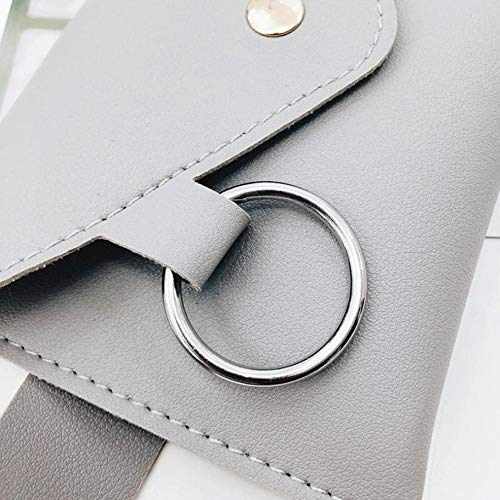 Women Belt Bag Fanny Pack Leather Waist Vintage Fashion Womens Pure Color Ring PU Messenger Shoulder Chest pochete