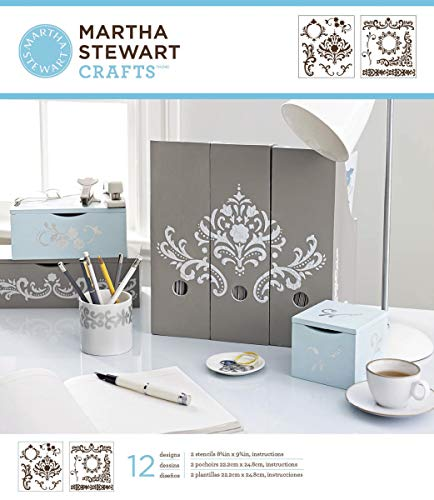 (Martha Stewart Crafts Medium Stencils (8.75 by 9.75-Inch), 32257 Nautical Study (2 Sheets with 14 Designs))