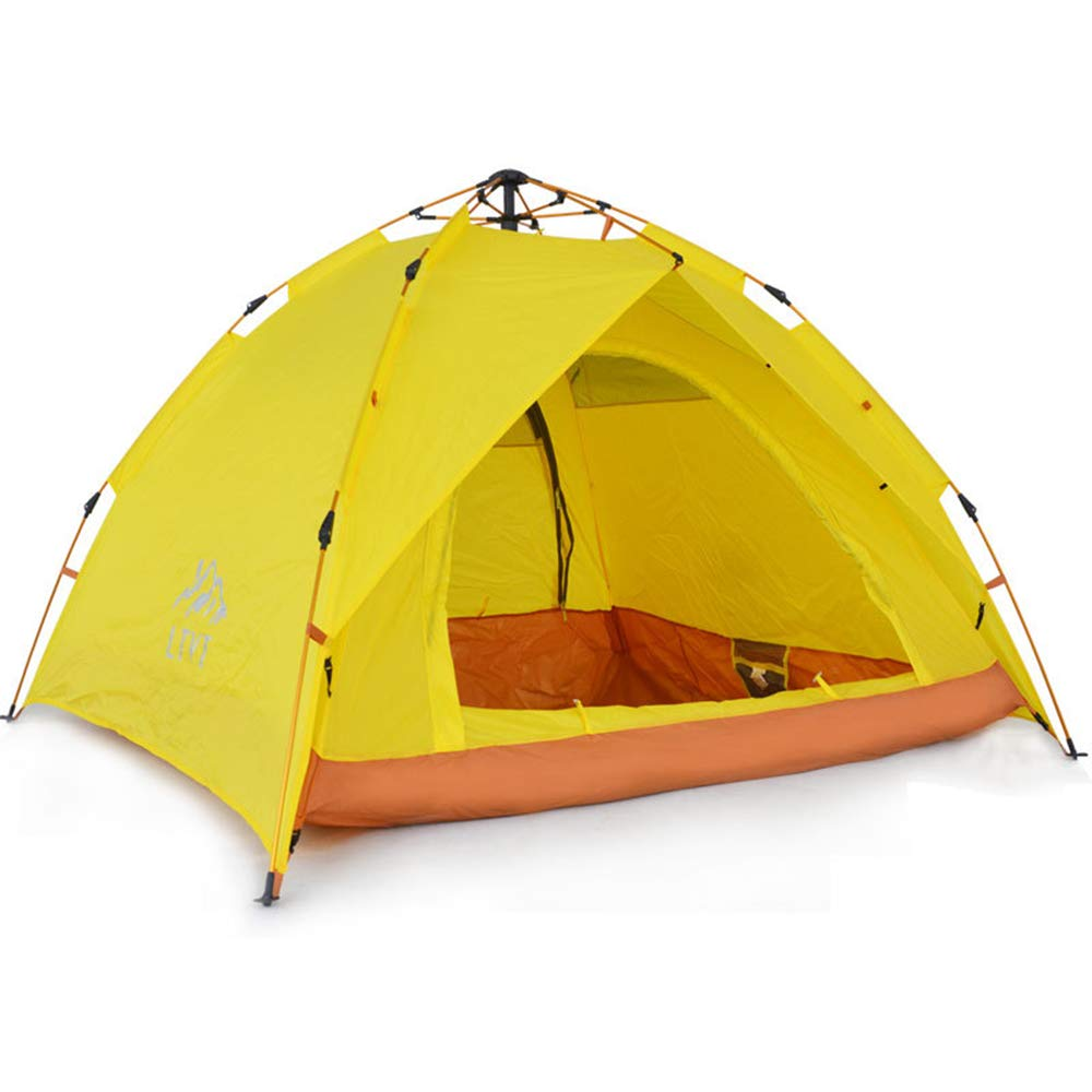 Kuppelzelte,Outdoor-Zelt, 3-4 Personen Familie mit regendichten Camping 2 Personen Doppel Automatische Geschwindigkeit öffnen Zelt ausgestattet