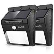 #LightningDeal 77% claimed: BAXIA TECHNOLOGY Wireless Security Motion Sensor Solar Night Lights - 12 LEDs Bright and Waterproof for Outdoor Garden Wall (2-PACK)