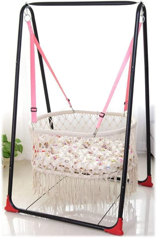 ZMXN Silla giratoria Bǎby, Mecedora for niños con balcón Interior, Hamaca for niños, Hamaca for niños de Estilo rústico, sillas Altas for el hogar al Aire Libre, fácil de Jugar