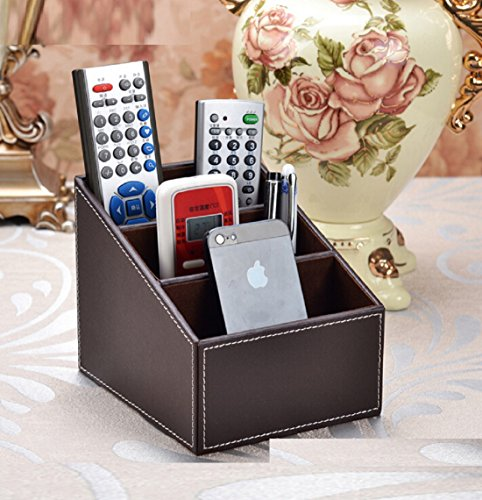 HG-X Brown Color PU Leather Remote control/controller TV Guide/mail/CD ()