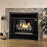 "36"" See-Through Flush Faced Vent-Free Firebox with White Stacked Liner"