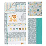 Trend Lab 6 Piece Crib Bedding Set, Lullaby Jungle
