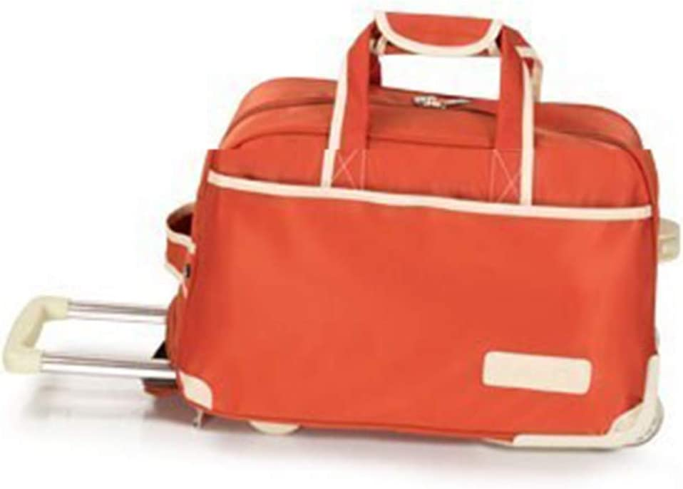 Suitcase Check-in Hold Luggage Travel Trolley Case Trolley Bag Lightweight Expandable Strong Luggage Cabin Bags Boarding Package Drag Hand Wheel Portable GAOFENG Color : Orange, Size : 563040cm
