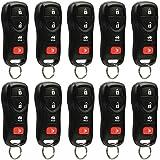 Key Fob Keyless Entry Remote fits Nissan, Infiniti (KBRASTU15 4-Btn), Bulk Lot of 10