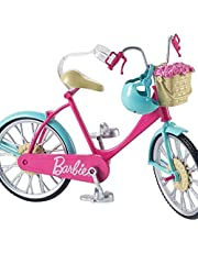 Barbie DVX55 - Barbie-cykel med Korg och Blommor, för Barn från 3 till 7 år