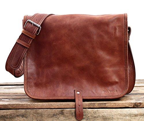 A4 M PAUL MARIUS format bandoulière sac MESSAGER LE cuir couleur naturel STn86g1xwq