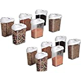 Octus Products Cereal Dispenser Storage Containers Easy Flow Storage Container for Kitchen Set of 12 Pcs, Storage Box,Kitchen Containers for Storage Lid Food Rice Pasta Pulses Container (1100 ml)