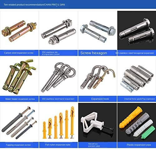304 Stainless Steel Expansion Screw Hoisting Expansion Bolt External Hexagon Reduction Belt Built-in Tension Explosion 1Pcs Length : 60mm, Size : M10