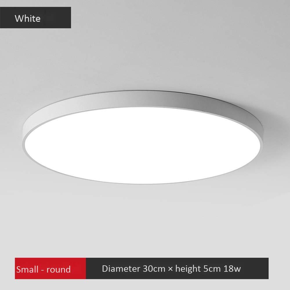 Plafonnier, plafonnier chambre Dimmable fine ronde LED lumière Bureau éclairage de la salle de séjour Personnalité créative schwarz et Weiß simple moderne LX-S01