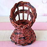 1:6 scale doll furniture chair. Handmade wicker, rattan look armchairs for 1:6 scale / 12-inch doll.