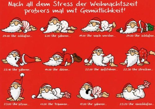 Weihnachtspostkarte Mit Lustigen Sprüchen Nach All Dem Stress Der