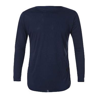 Camiseta de Manga Larga Hombre, BBestseller Camisa Chándal para Hombre Sudaderas con Capucha para Hombre Chaqueta de suéter