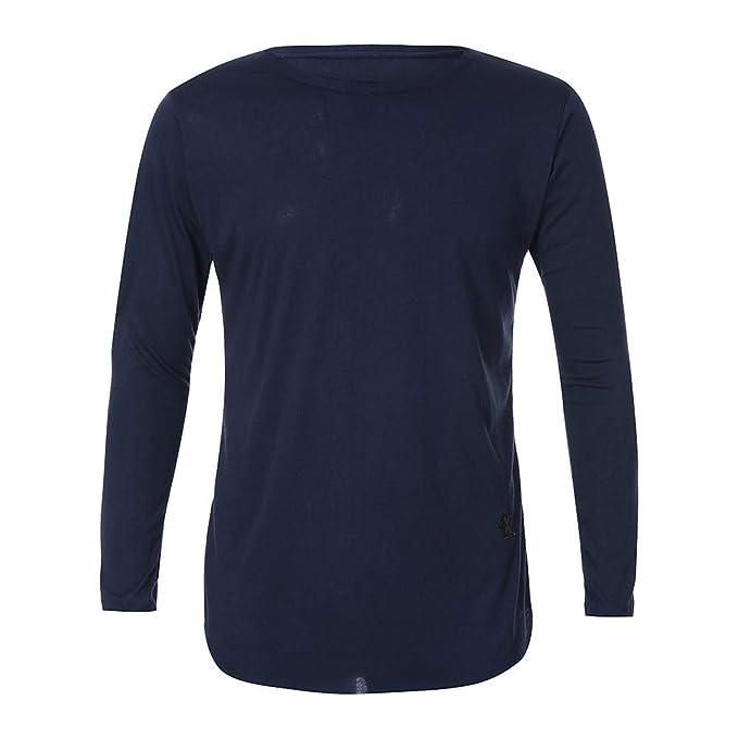 Camiseta de Manga Larga Hombre, BBestseller Camisa Chándal para Hombre Sudaderas con Capucha para Hombre Chaqueta de suéter: Amazon.es: Ropa y accesorios