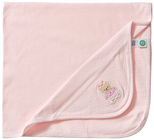 Little Me Baby Girls' Sweet Bear Blanket, Light Pink, One ()