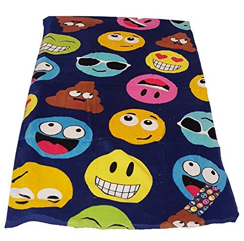 Emoji Towel with Poo Emoji 100% Cotton Velour Terry Cloth Beach Bath Towel