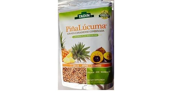 Amazon.com : Tadin Piña Lucuma Linaza canadiense combinada 14 oz. : Grocery & Gourmet Food