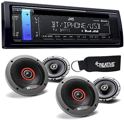 """JVC kd-r890bt Bluetooth CDレシーバーwith 2つのペアのMB Quart Formulaシリーズfkb1166.5""""スピーカー"""